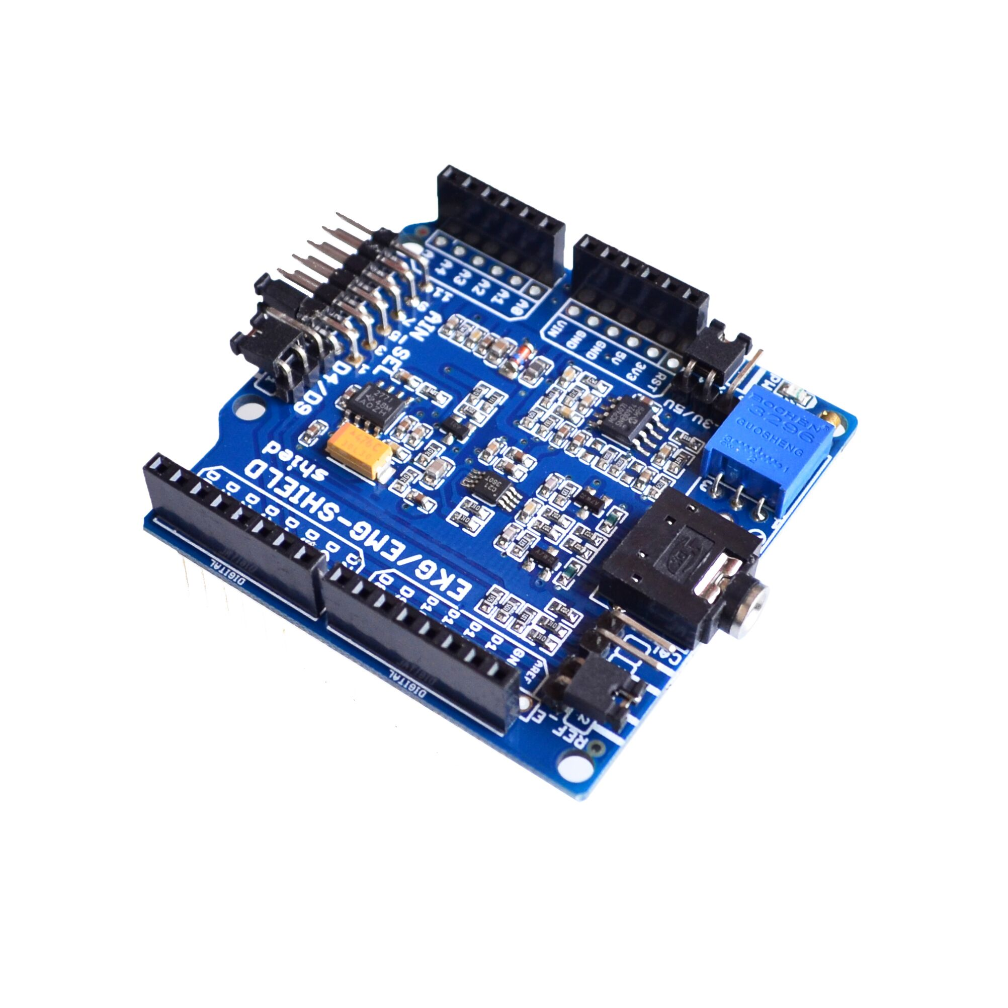 ECG/EKG/EMG Shield for Arduino with Cables and Electrodes
