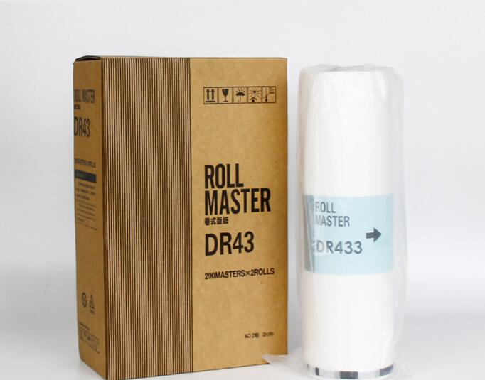 new Compatible stencil Master roll for DUPLO DP430 DR43 A3 master copyprinter master school consumables printer
