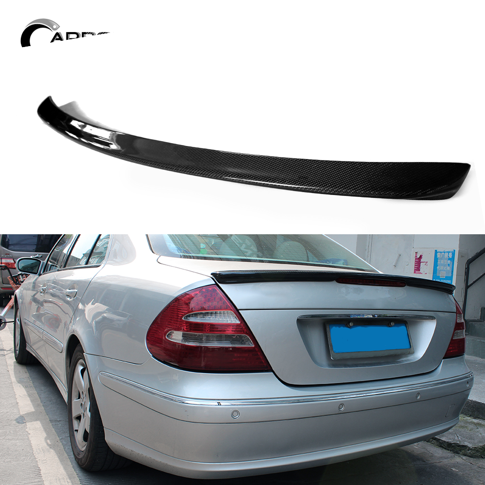Carbon Fiber Spoiler Wing For Mercedes E Class W211 2003-2009 Rear Trunk Decoration Gloss Black Spoilers