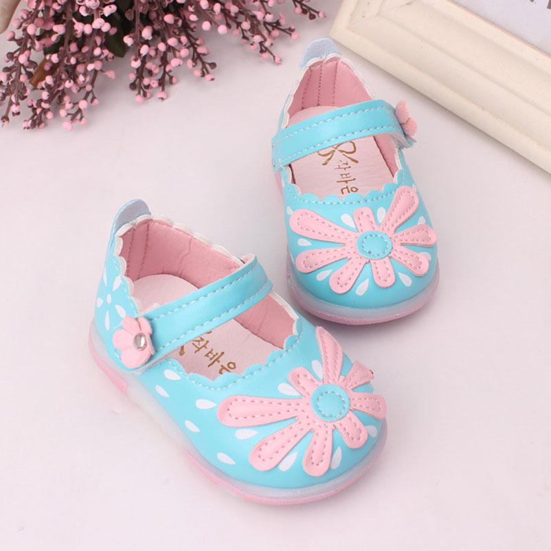 xunqicls свет обувь из искусственной кожи для маленьких девочек обувь для младенцев красивый цветок весна мягкая подошва малыша обувь