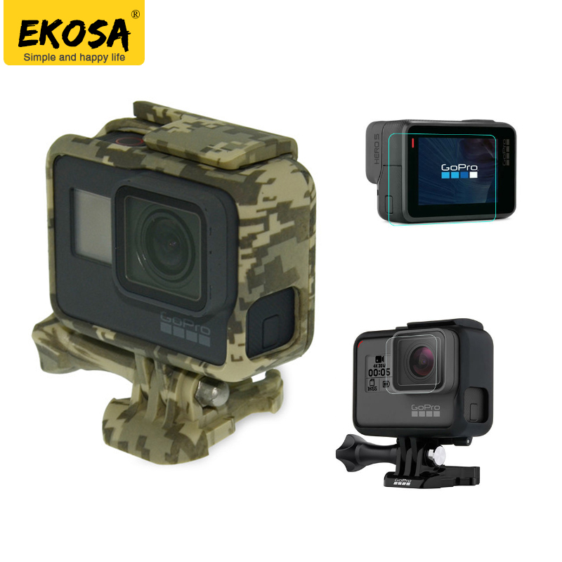 EKOSA Protection Case For Gopro Hero 5 6 Go Pro 5 6 Camouflage Skeletons Frames Hard Bag With Protect Film For Gopro Accessories for ricoh sp 311 toner chip toner refill chip for ricoh aficio sp311 sp 311dn 311dnw printer for ricoh 407245 407246 toner chip