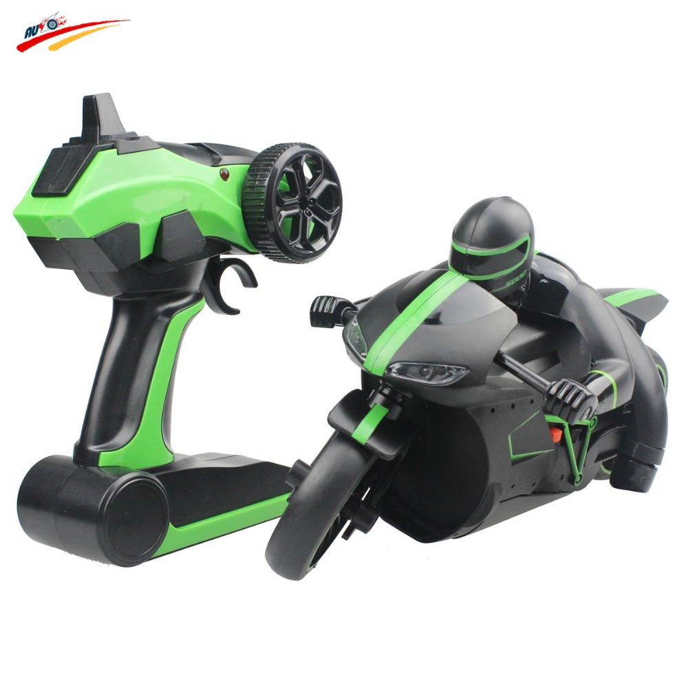 2 4G RC Motorcycle Remote Control Unique Leaning Action Lightning Motorcycle With Bright LED Headlights Rechargeable