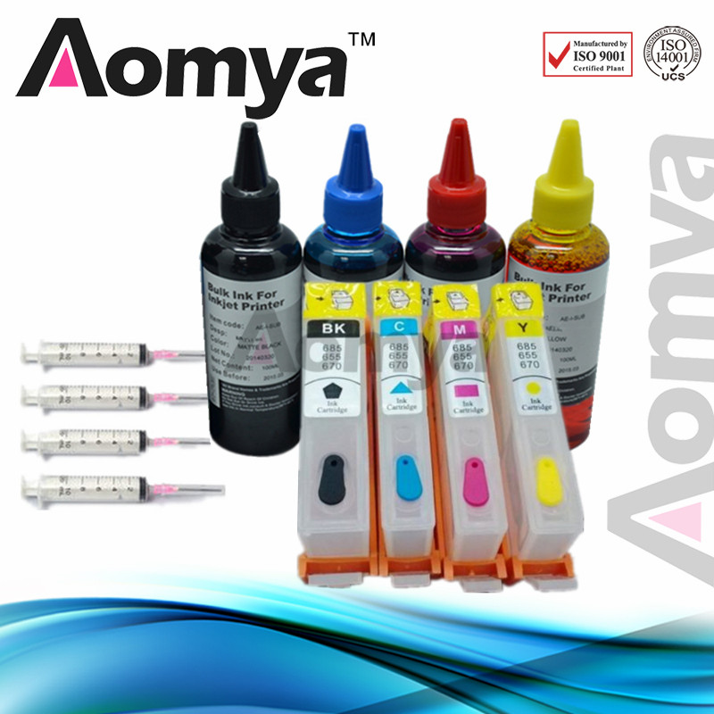 Aomya Printer Ink Cartridge Compatible For HP920 Ink Refill Kit For HP 920 920XL Officejet 6000 6500 6500A 7000 7500 7500A inkarena refilled ink replacement for hp 920 xl 100ml bottle ink dye refill officejet 6000 6500 6500a 7000 7500 7500a printer