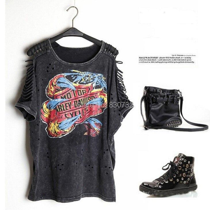 79dc40b891 catonATOZ 1990 Women s Plus Size Casual Punk Rock Fashion Hollow Out Tops Camisetas  Roupas Femininas Vintage Cotton Tshirt-in T-Shirts from Women s Clothing ...