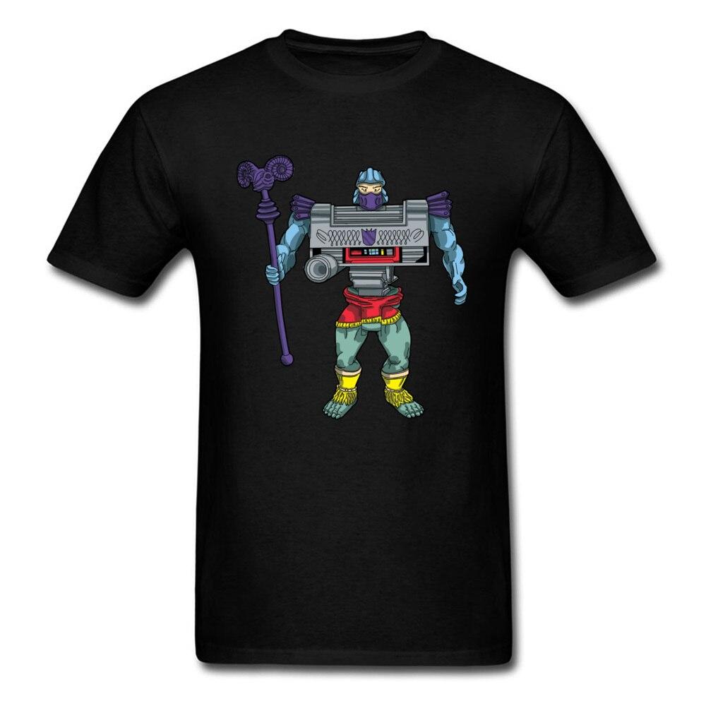 Villain Action Figure Mix Up T-shirt For Men Robot T Shirt Warrior Tops Oversized Tees Cotton Clothing Cartoon Tshirts