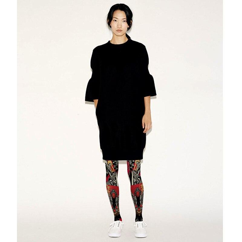 Résille bas vente Polyester Medias Pantis femme collants nouveau collants Style chinois pékin opéra visage imprimé femme