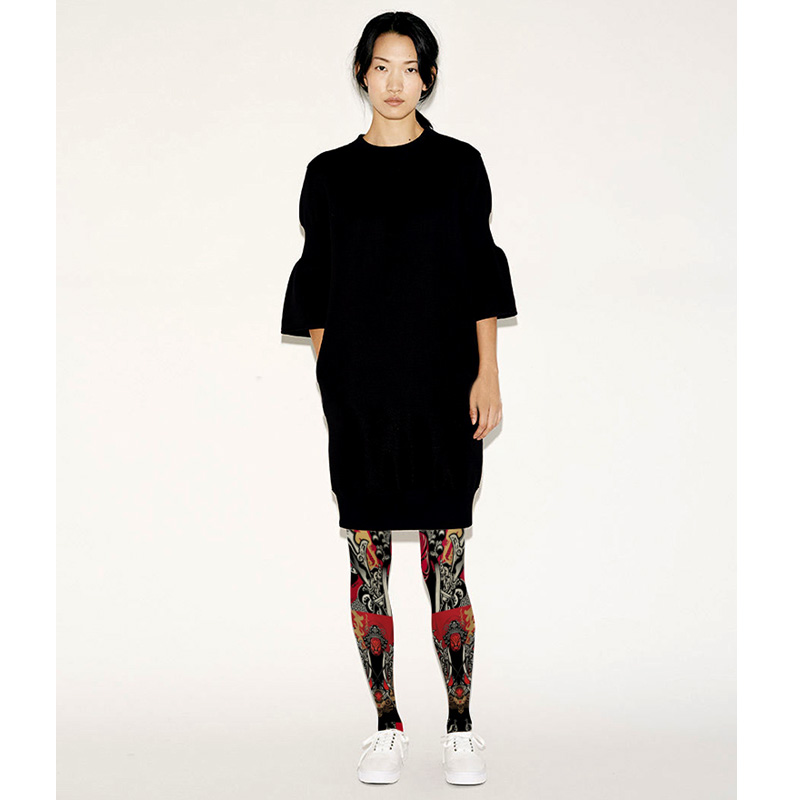 Stockings Sale Polyester Medias Pantis Woman Women Tights 2017 New Pantyhose Chinese Style Peking Opera Face Print Female