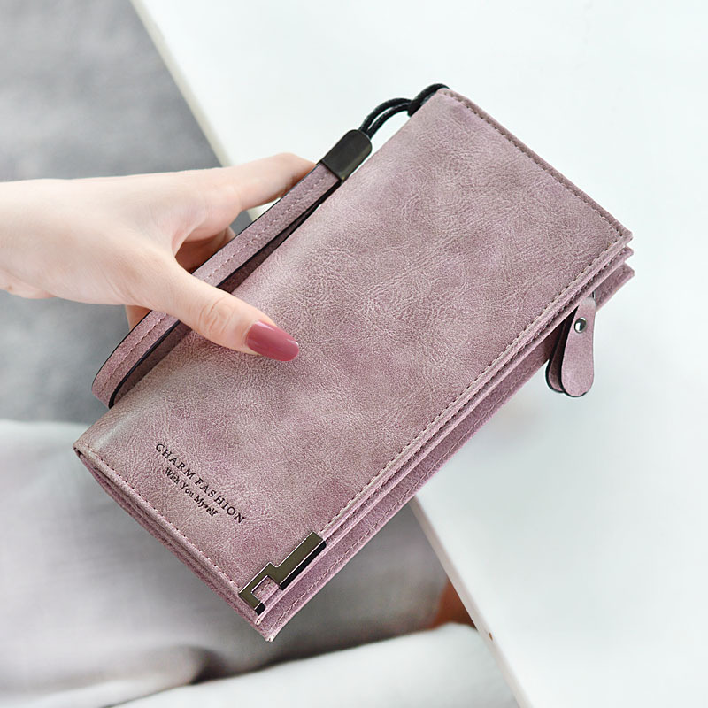 2018 Women Purse Wallets Pu Leather Brand Designer Luxury Long Wallet Women Wallets Female Bag Ladies Vintage Simple Fashion