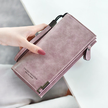 Fashion Women Wallet Pu Leather Brand Design Luxury Casual Long Wallet Clutch Coin Purse Female Bag Ladies Vintage Portable Bags natsume yuujinchou natsume takashi cat printing long coin purse pu anime women wallet kawaii female purse student phone bags