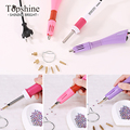 Factory Price Rapid Heat ! 1pc/lot Pink Hot fix Applicator Wand Gun For Hotfix Rhinestones Iron On Crystals