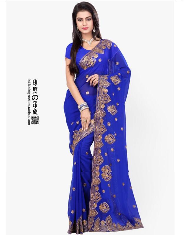 Индийские сари вышивка