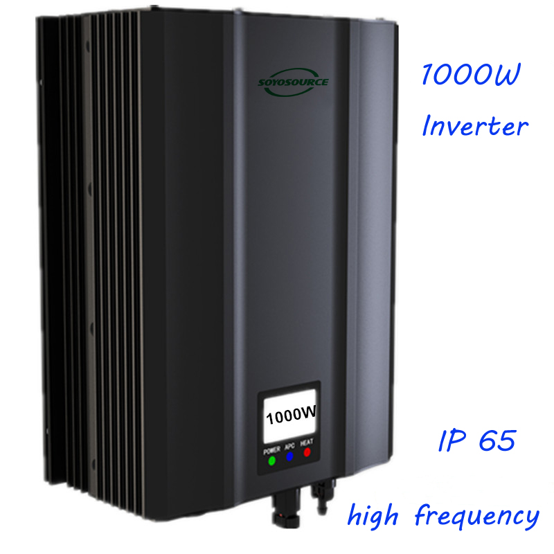 1000W grid tie inverter PV 85V-135V DC to AC180V-260V High frequency isolation Safety High efficiency home System Pure Sine Wave solar power on grid tie mini 300w inverter with mppt funciton dc 10 8 30v input to ac output no extra shipping fee