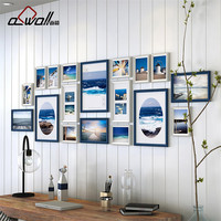 18 Pieces Set Wood Photo Frames Luxurious Picture Frames Wall Set Combination Modern Wall Photo Frames
