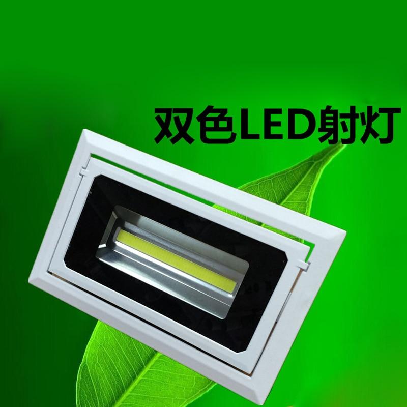 2pcs/lot LED Downlight 50W COB Spot Rectangular Recessed Ceiling Down Light Rotatable Adjustable Downlight Indoor Lighting цена