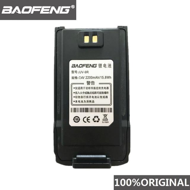 100% 원래 BaoFeng UV 9R 워키 토키 7.4V 2200mah 리튬 이온 배터리 Pofung UV 9R 양방향 라디오 UV9R Woki toki
