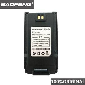 Image 1 - 100% Original  BaoFeng UV 9R Walkie Talkie 7.4V 2200mah Li ion Battery for Pofung UV 9R Two way radio UV9R Woki toki