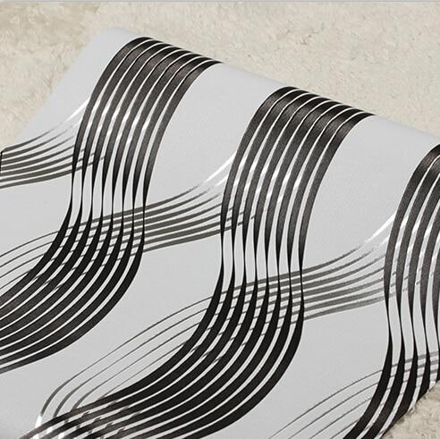 Modern Luxury Stereo 3D Striped Wallpapers Living Room KTV Walls Wallpaper Roll 3D PVC Wall Paper Brown Black Red Gold Wallpaper