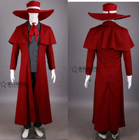 Hellsing Alucard Cosplay Costume Set Vampire Hunter New any size customized coat hat set