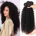 Peruano Kinky Curly Virgem Cabelo Afro Kinky Curly 4 Bundles 10A Peruano Virgem Cabelo Natural Curly Weave Extensões de Cabelo Humano
