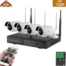 Stardot 4CH Wireless CCTV System HD 720P NVR kit Outdoor IR Night IP Camera wifi Camera Security System Surveillance Kit