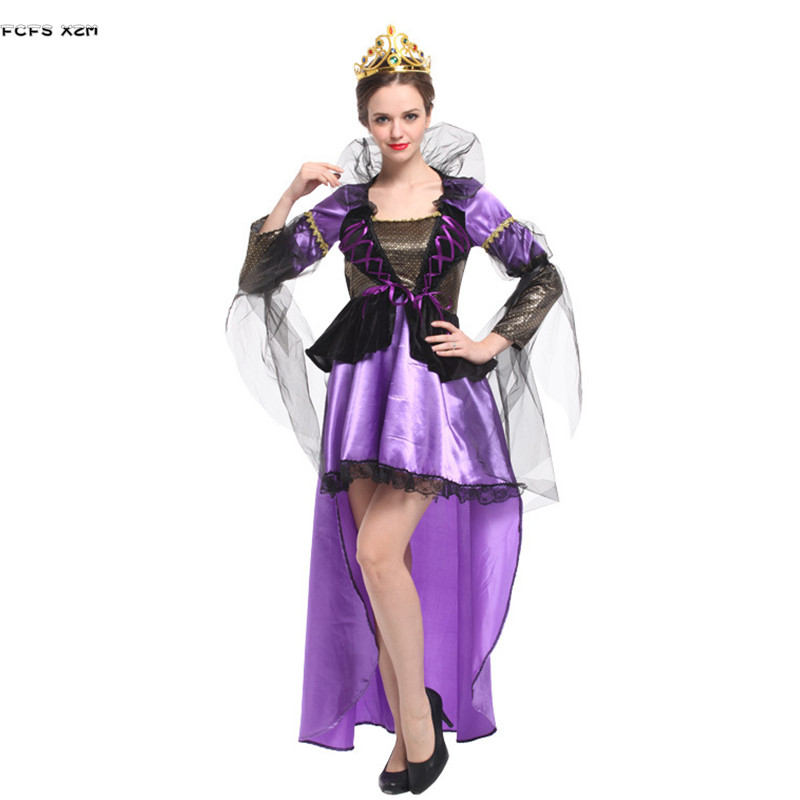 Halloween Queen Costumes for Woman Female Cinderella Movie Cosplays Christmas Carnival Purim Masquerade stage play party dress