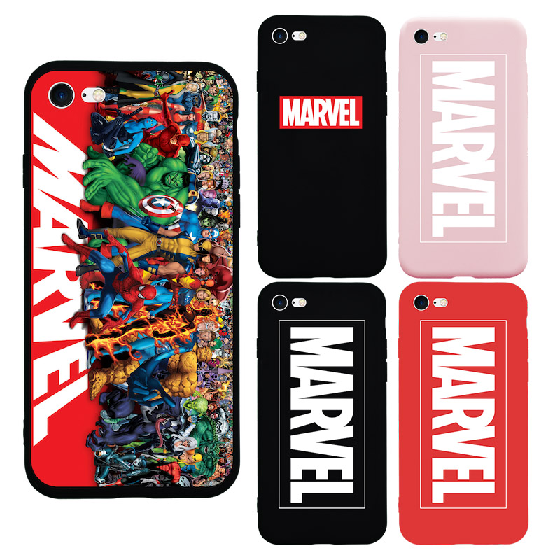Brand NEW Design Classic MARVEL Logo Hero Soft Silicon <font><b>Case</b></font> for <font><b>iPhone</b></font> 7 <font><b>7Plus</b></font> 8 Plus 6s Plus X 10 5s 5 SE <font><b>Phone</b></font> <font><b>Cases</b></font> Bag Cover