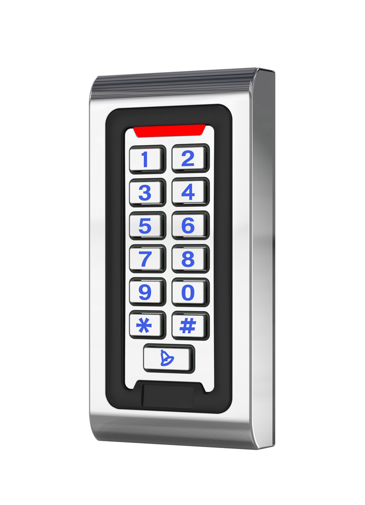 Metal standalone access control 125K/ID 2000 Usersl anti-hit, support wiegand 26 format input/output,sn:Metal standalone access control 125K/ID 2000 Usersl anti-hit, support wiegand 26 format input/output,sn: