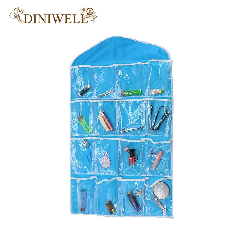 DINIWELL Skaidrs 16 kabatas zeķes Apavu rotaļlietu apakšveļa Čības Juvelierizstrādājumu šķirošana Uzglabāšanas soma Durvju sienas pakaramais skapis