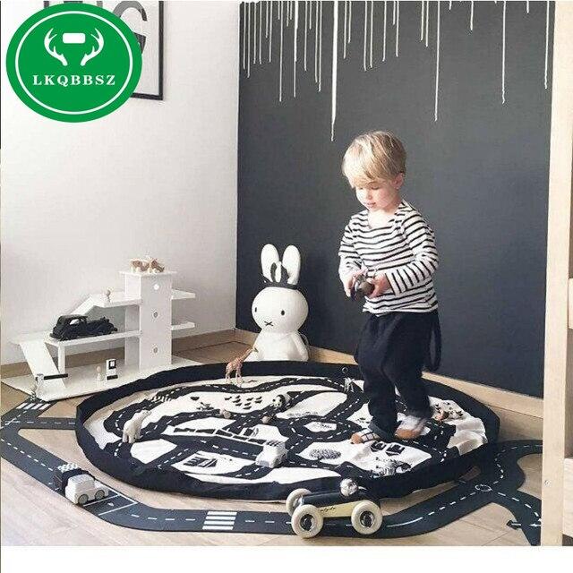 Creative ילדים צעצוע אחסון תיק ולשחק מחצלת לגו צעצועי ארגונית סל תיבת אופנה תינוק צעצועי אחסון שקיות מחוץ פיקניק לשחק מחצלת