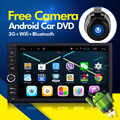 1024*600 2 din 7 дюймов Android 5.1 dvd-плеер автомобиля HD Сенсорный Экран 1080 P Видео GPS Стерео аудио с Экрана OBD2
