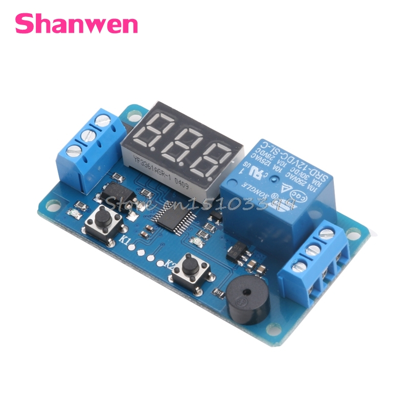 DC 12V LED Display Digital Delay Timer Control Switch Module PLC Automation New #G205M# Best Quality om plc c200h me831 plc automation industry industrial plc module j