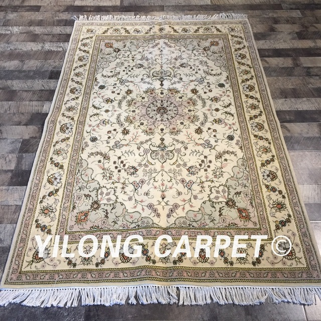 Yilong 4 X6 Traditional Chinese Wool Rug Exquisite Thin Soft