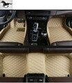 Custom conjunto completo esteras del piso del coche para Volkswagen Touareg impermeable xpe 3d alfombra del piso alfombra de cuero Forro de buques de carga estera pie coche