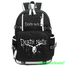 3bb2537a3c7 Hot Anime Death Note Laptop Tassen Cartoon Schooltas Teenages Canvas  Rugzakken Grote Rugzak Studenten Notebook Rugzak