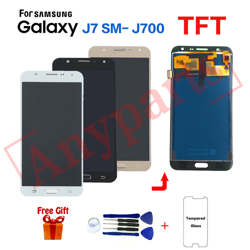 For <font><b>Samsung</b></font> Galaxy J7 2015 J700 <font><b>SM</b></font>-J700F Display screen replacement for <font><b>Samsung</b></font> <font><b>J700H</b></font> J700M J700K J700T J700P display lcd module image