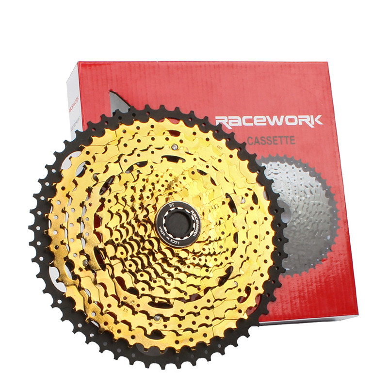 Mountain Bike Freewheel 10Speed/42/<font><b>46</b></font>/50T 11S/<font><b>46</b></font>/50/52T MTB <font><b>Cassette</b></font> Flywheel Sprocket Compatible with Sunrace image