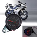Universal 12V Motorcycle Tachometer Meter Gauge 13K/13000 RPM Moto LED Backlight Shift For Honda Suzuki Motorbike Instrument
