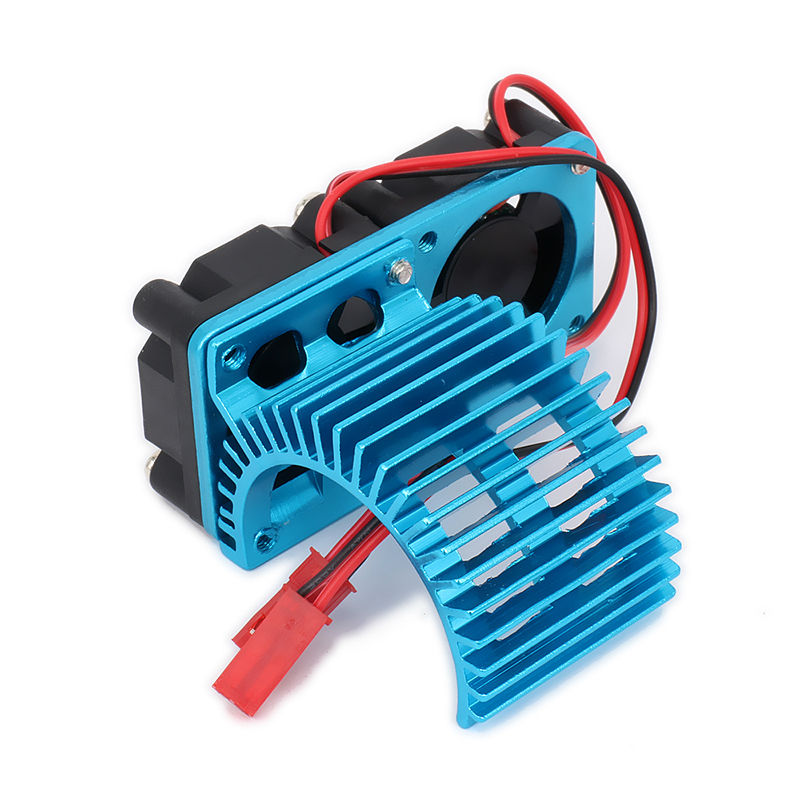 540 545 550 Motor Heat Sink Heatsink With Twin Fan Cooling Side Vent JST For 1/10 RC Car / Boat HSP HPI Wltoys Himoto Tamiya холодильник samsung rs4000 с двухконтурной системой twin cooling 569 л