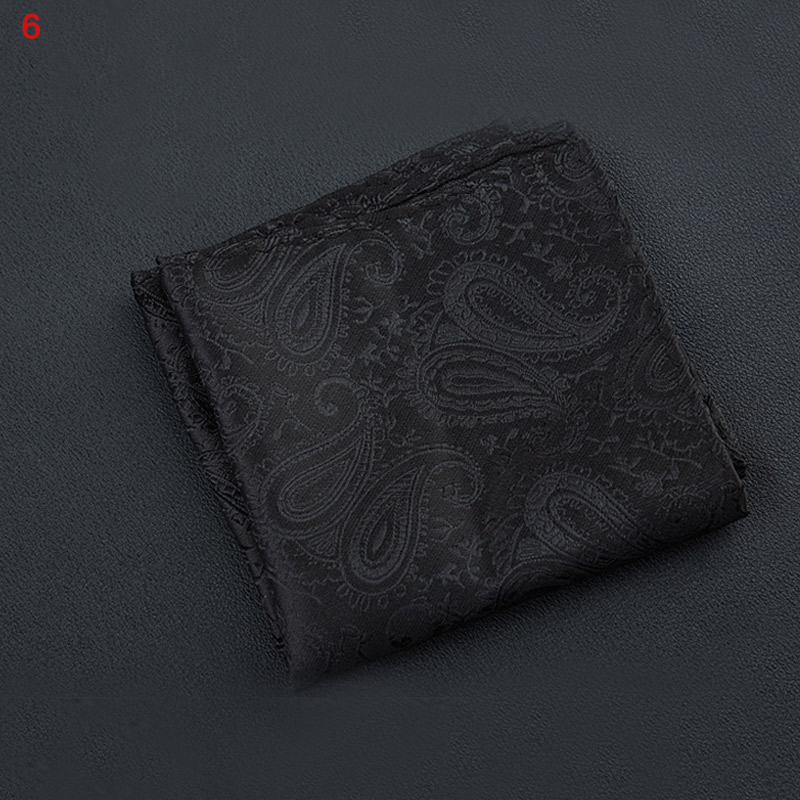 Newly Polyester Square Towel Trendy Wedding Banquet Handkerchief Gentleman Suit Pocket Hanky VK-ING