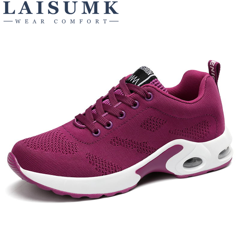 2018 LAISUMK Network Soft Casual Shoes Women Breathable Mesh Sneaker Shoes lace up Women tenis feminino Sneakers Free Shipping plus size casual women shoe mesh breathable sneaker female light summer couple shoes free shipping gold silver black huarche