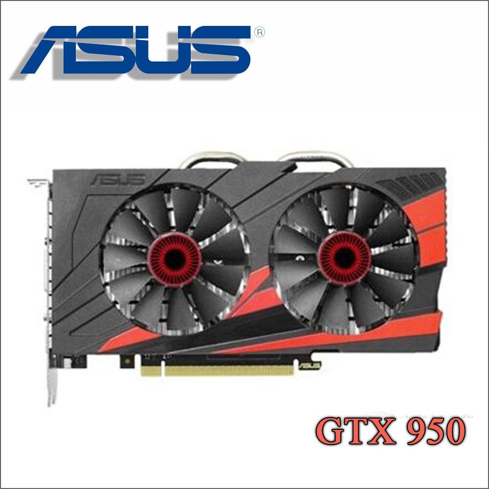 Utiliza ASUS PC tarjeta gráfica Original GTX 950 2 GB 128Bit GDDR5 tarjetas de Video nVIDIA Geforce tarjetas VGA GTX950 hdmi Dvi juego