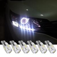 bulb 12v 2/4/6 pieces Car LED Clearance Lights Canbus T10 5630 6SMD Decoding W5W 12V Parking Fog Light Bulb For Car Styling Accessaries (4)