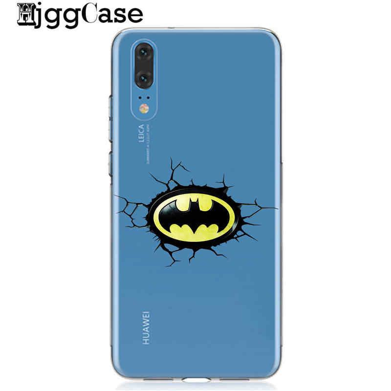 Marvel The Avengers Batman SpiderMan Sắt người đàn ông Mềm TPU Silicone Trường Hợp Cho Coque Huawei P30 P20 P10 Lite Pro Người Bạn Đời 20 10 Lite Pro Bìa