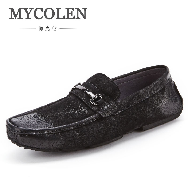 MYCOLEN 2018 New Spring Autumn New Fashion Brand Man Genuine Leather Shoes Man Fashion Casual Solid Comfortable Shoes Man fashion new spring