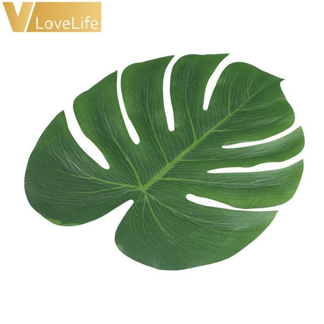 Acheter 12 pcs feuille artificielle - Feuille de palmier artificielle ...