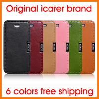 For Iphone 5 5S Best Famous Icarer Brand Luxury Flip Genuine Leather Phone Cover Case Free