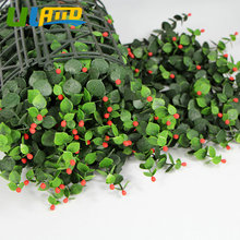 ULAND Outdoor Artificial Boxwood Plants Mats Hedge Plastic 10X10 Flowers Privacy Fence China Garden Balcony Decoration