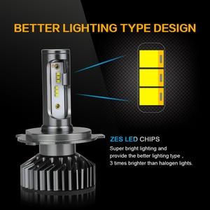 Image 3 - Zdatt H7 LED H4 H1 H11 9005 9006 자동차 헤드 라이트 전구 12000LM 6000K 12V 차량 자동차 안개 조명 HB3 HB4 램프 터보 팬