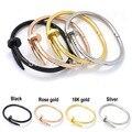 Top Quality Screw Stainless Brand Bracelet Bangle for women  Gold Plate Titanium Steel  men Christmas gift  for women Bangle