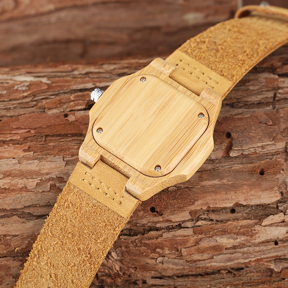 2017 New arrivals Wood Watch Natural Light Wooden Face Fashion Genuine Leather Bangle Unisex Gifts for Men Women Reloj de madera Christmas Gifts (12)